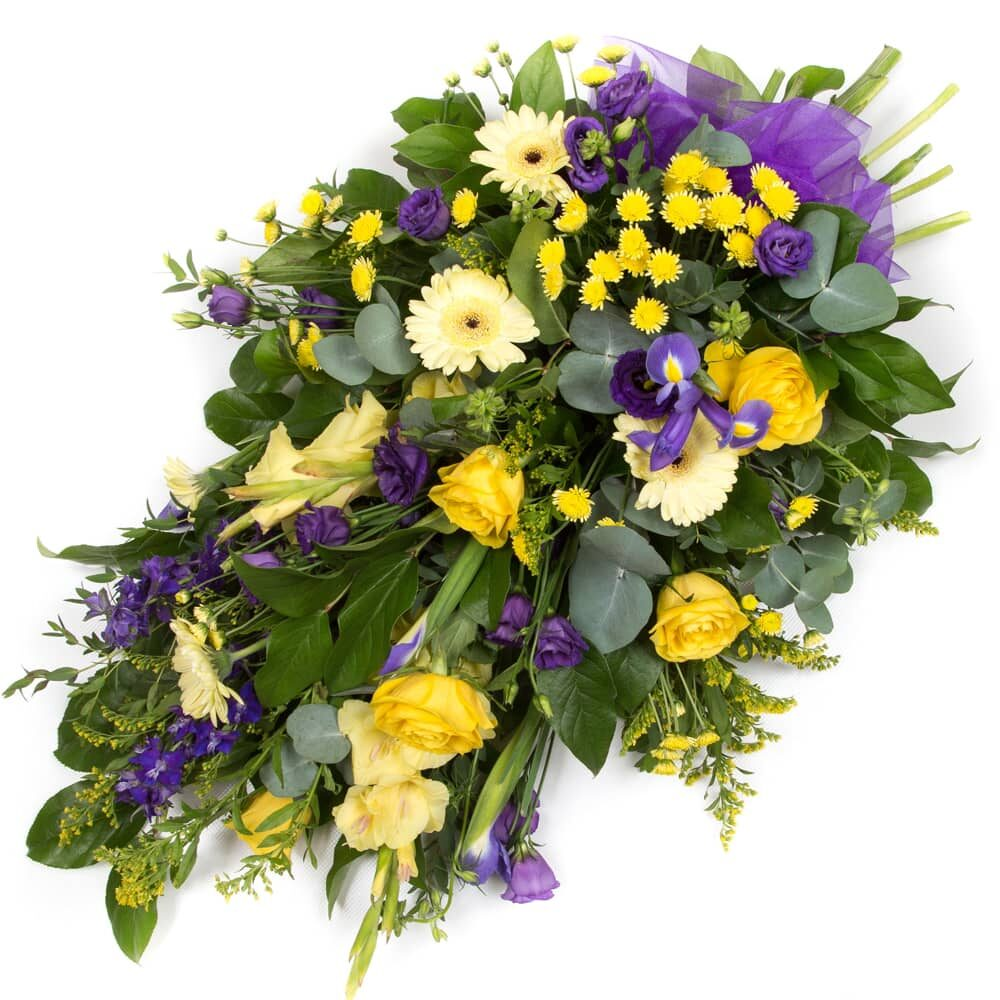 Purple & Gold Spray flowers