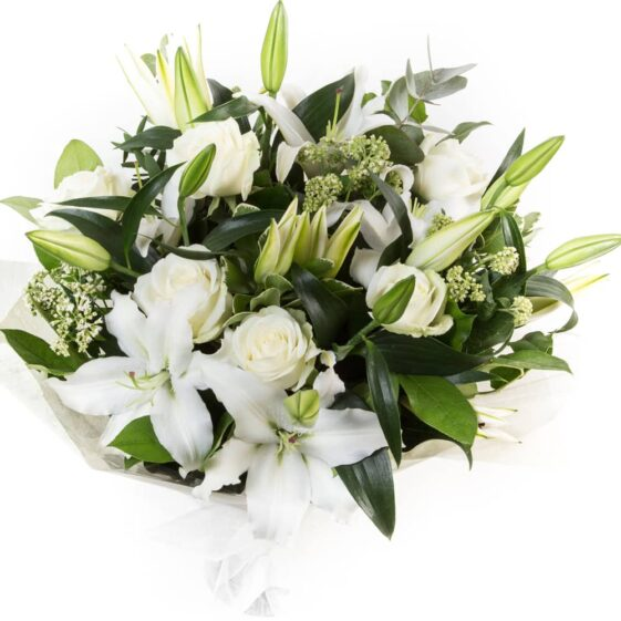 White Lilies & Roses flowers
