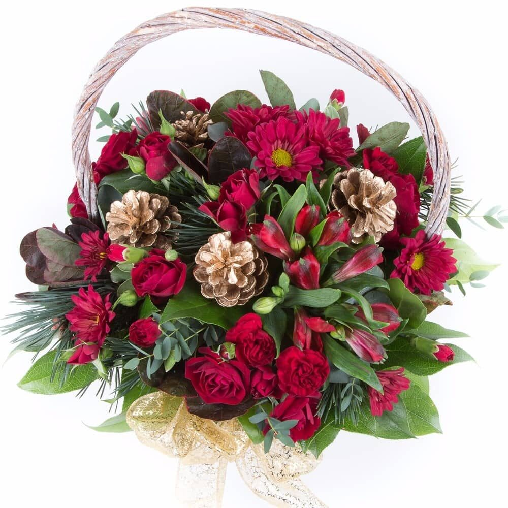 Traditional Basket of flowers