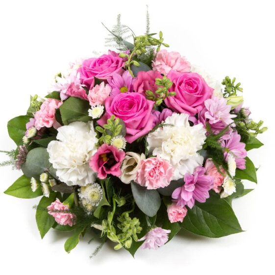 Pink & White Posy flowers
