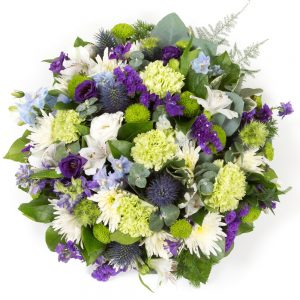 Purple, Lime & White Posy Pad