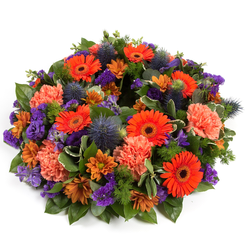 Orange & Purple Wreath