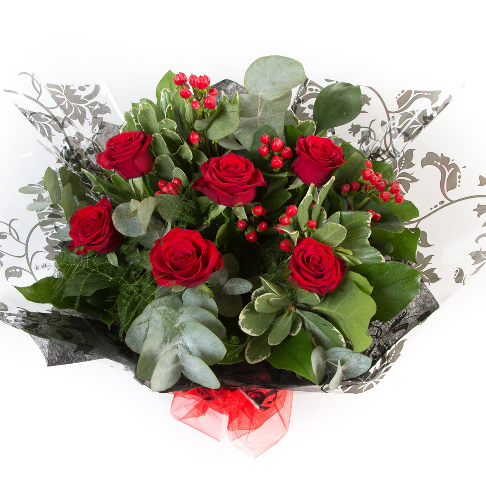 Six Long Stemmed Red Roses